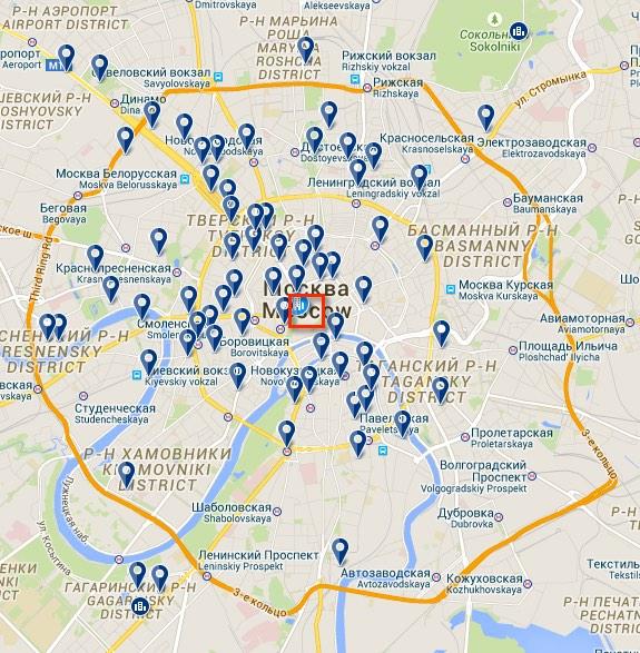 4 Allogiare in Russia - Zona centrale Mosca
