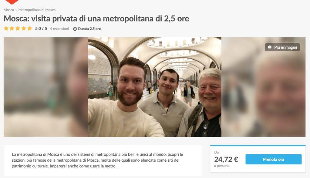 Mosca - visita privata di una metropolitana di 2,5 ore in italiano