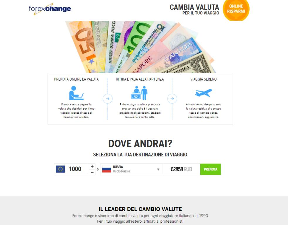 Forexchange - Cambio valute online - Euro Rubli