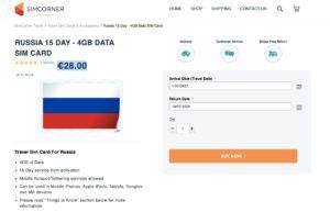 SIM russa in Italia 1