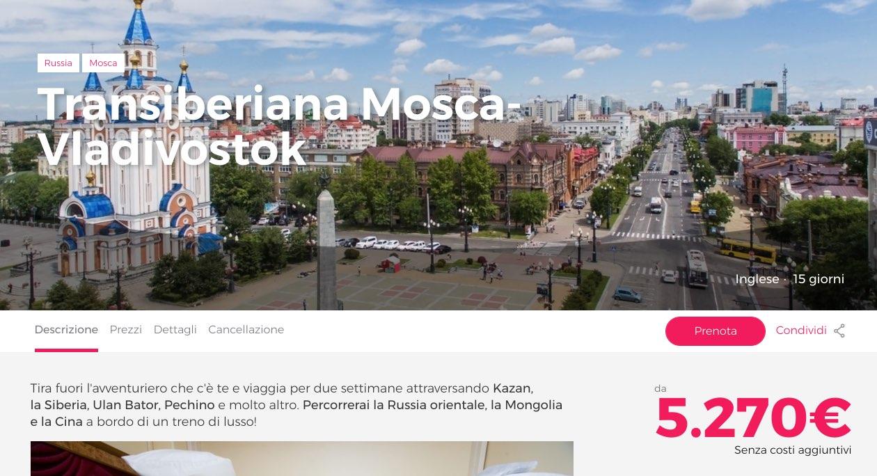 Transiberiana Mosca-Vladivostok - Prenotazione online civitatis