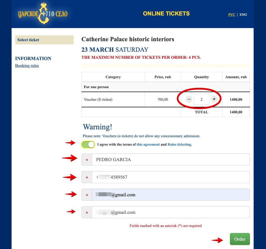 Acquista i biglietti Catherine Palace Saint Petersburg - Tsarskoye Selo 2