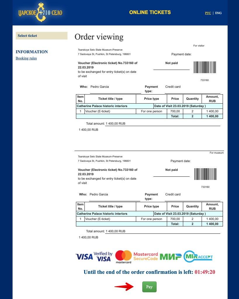 Acquista i biglietti Catherine Palace Saint Petersburg - Tsarskoye Selo 3