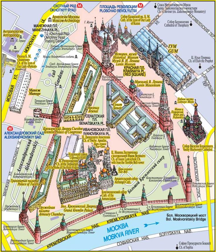 Mappa Piazza Rossa di Mosca