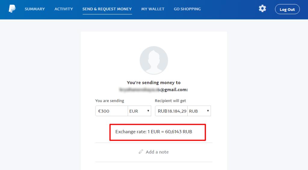 Denaro Russia - PayPal