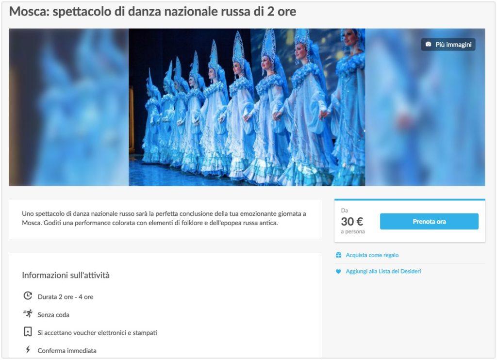 Mosca - spettacolo di danza nazionale russa