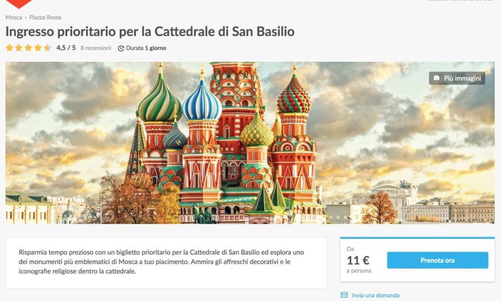 Ingresso prioritario per la Cattedrale di San Basilio