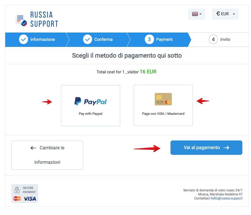 Lettera di invito per la Russia - Russia Support 4