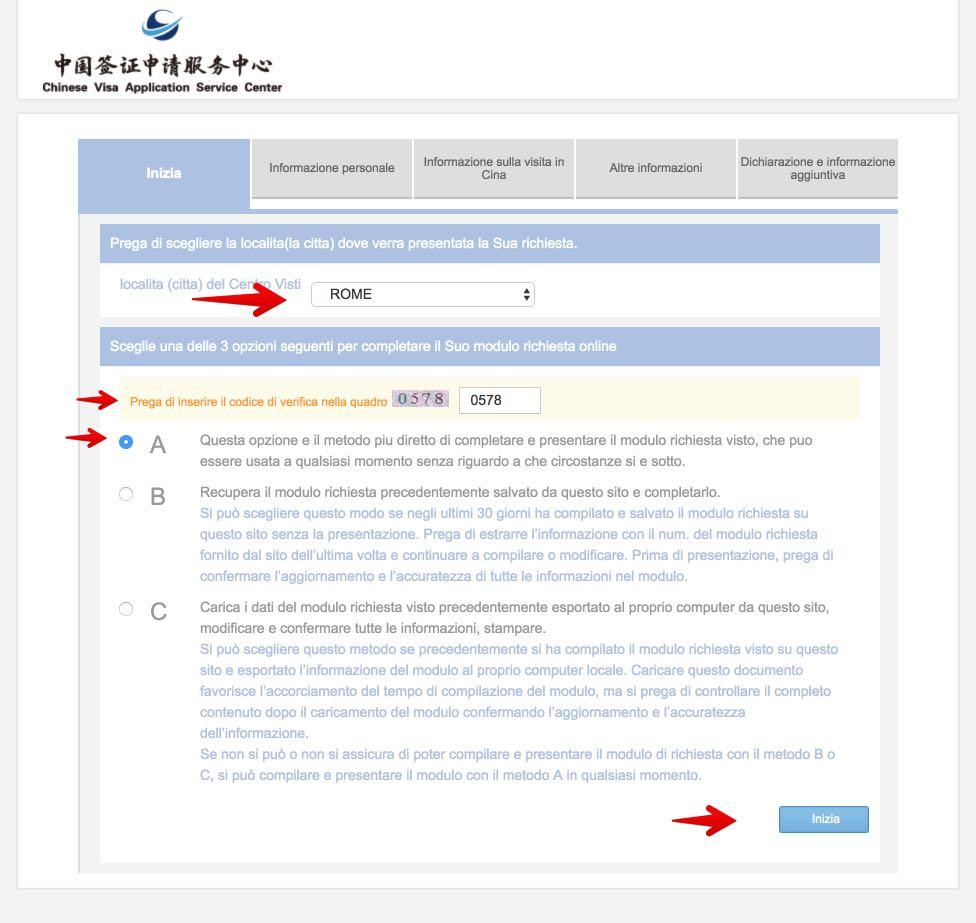 Domanda di visto cinese - Come compilare lapplicazione 4
