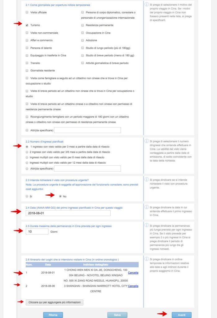Domanda di visto cinese - Come compilare lapplicazione 8