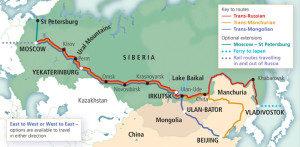 Mappa Transsiberiana Russ