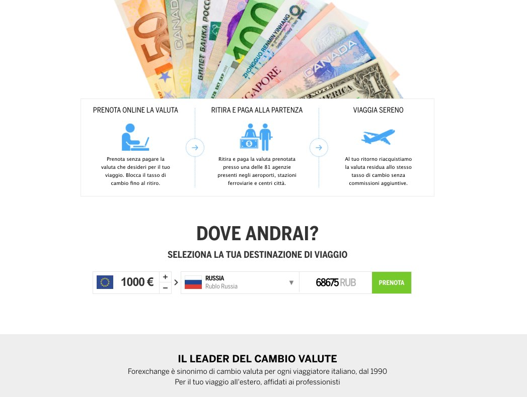 Cambio rubli in Italia - Valute online - Forexchange