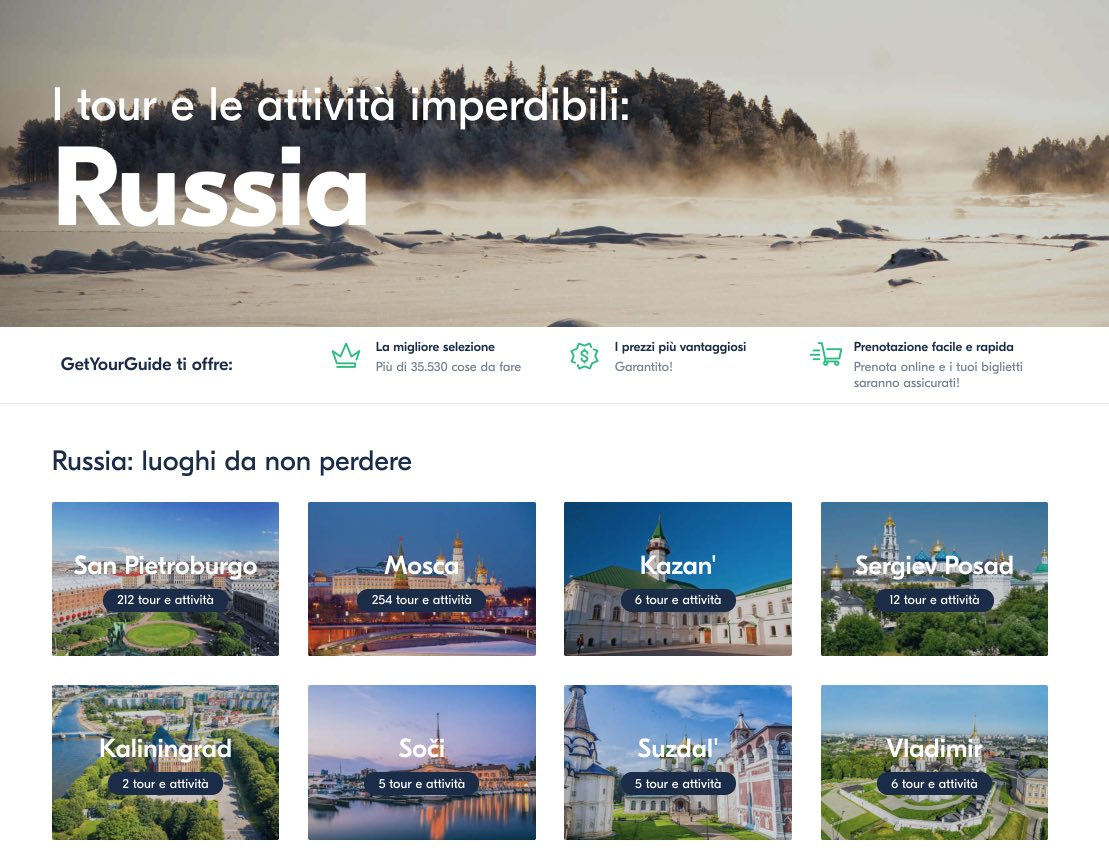 Migliori tour viaggi e attivita a Russia - GetYourGuide