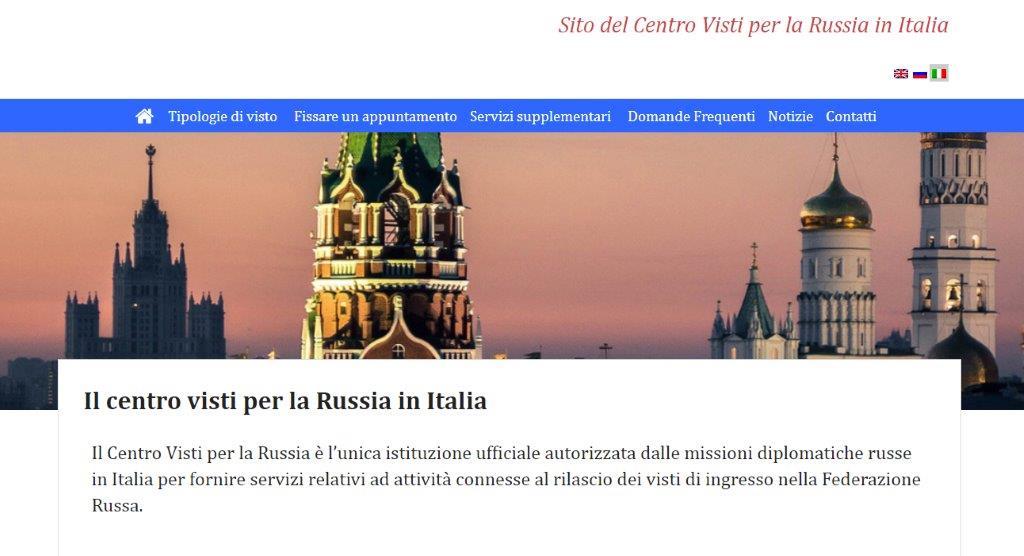 Sito del Centro Visti per la Russia in Italia
