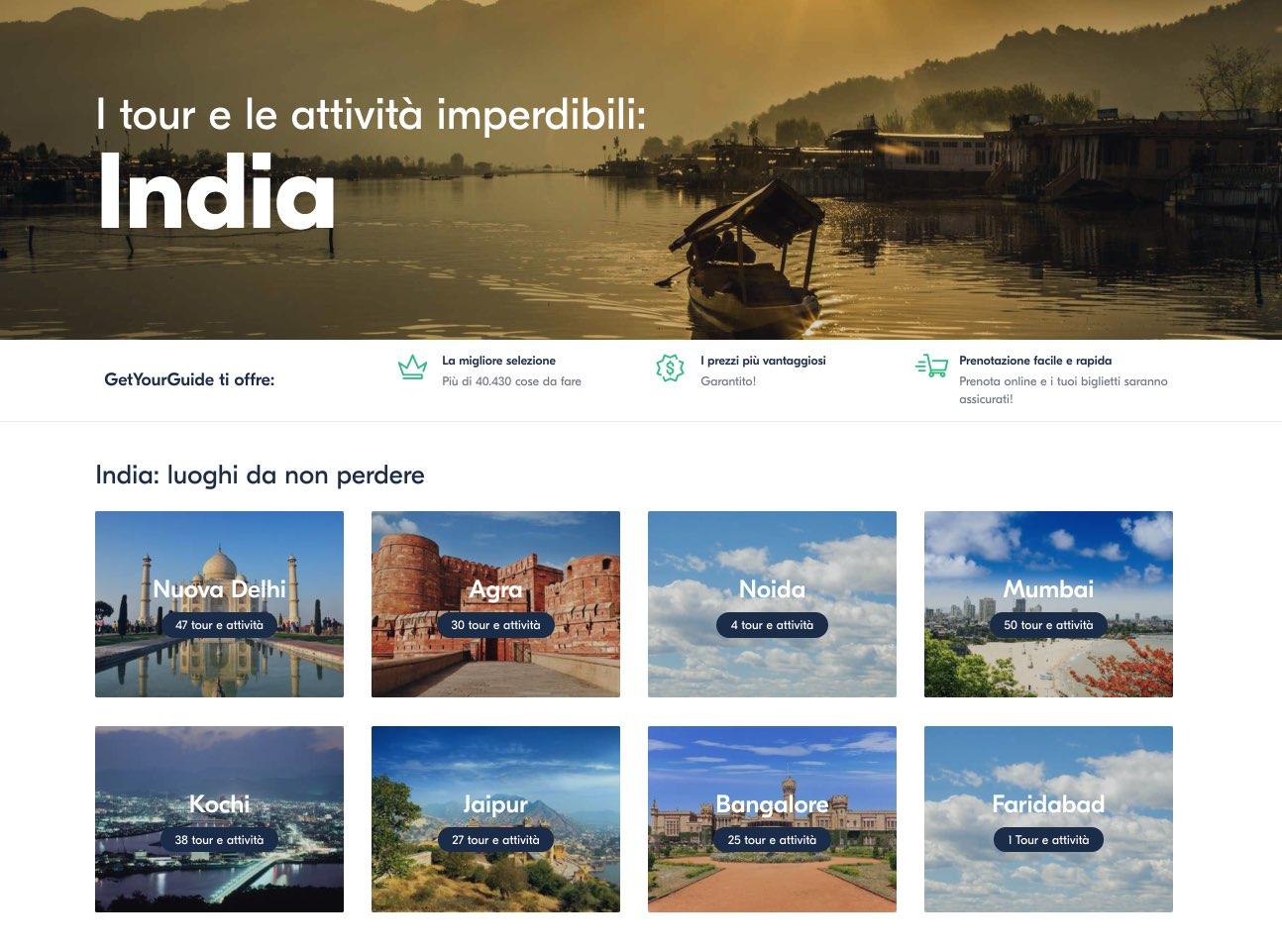Migliori tour viaggi e attivita India