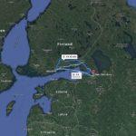 Helsinki Finlandia a San Pietroburgo - Google maps